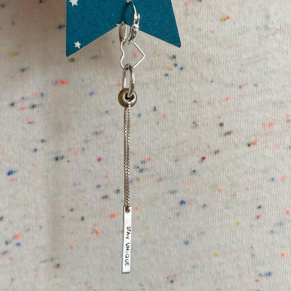 Image of bar and chain earring