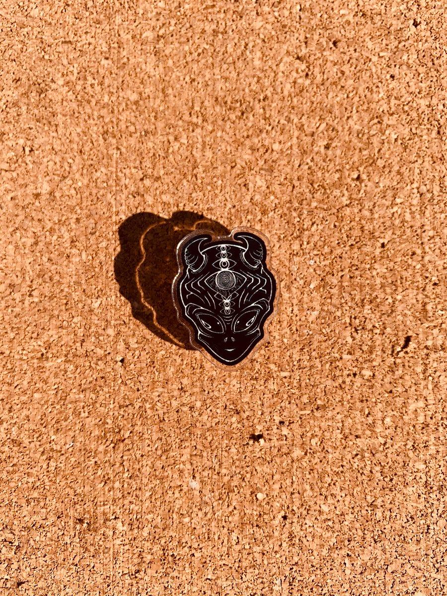 Image of Alien Demon Pin