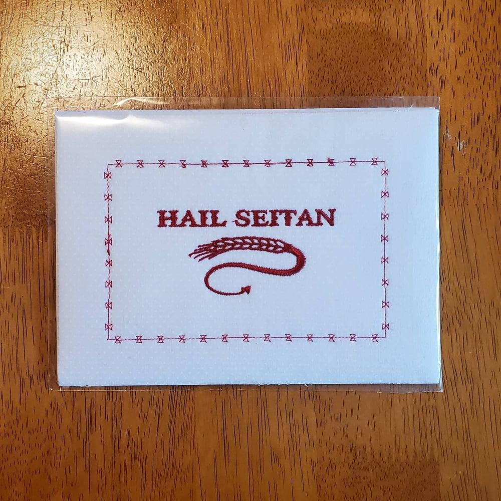 Image of Hail Seitan embroidery
