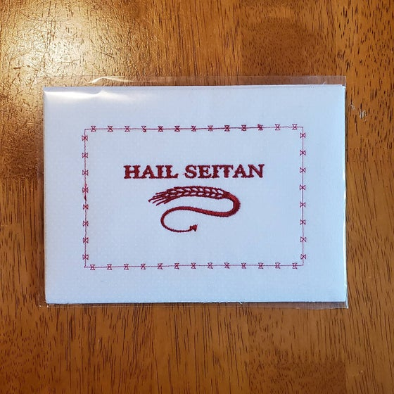 Image of Hail Seitan embroidery