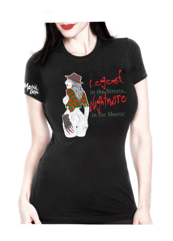 Image of Nightmare In The Sheets Women's Tee