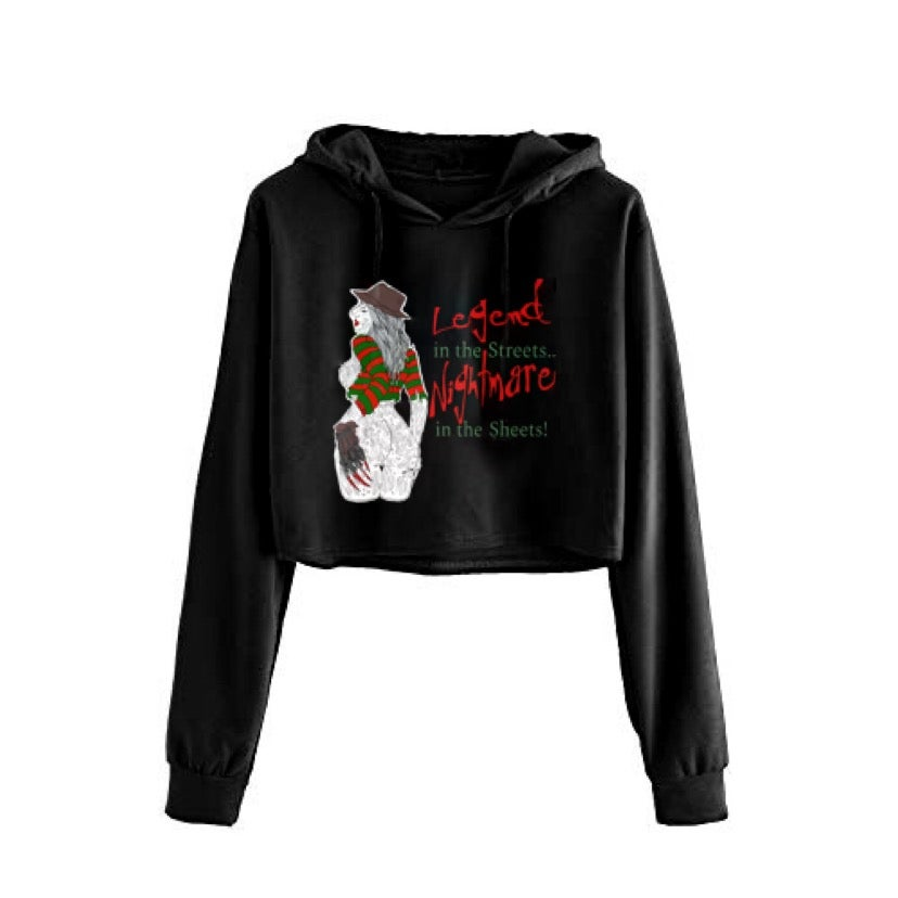 Image of Nightmare In The Sheets Cropped Hoodie