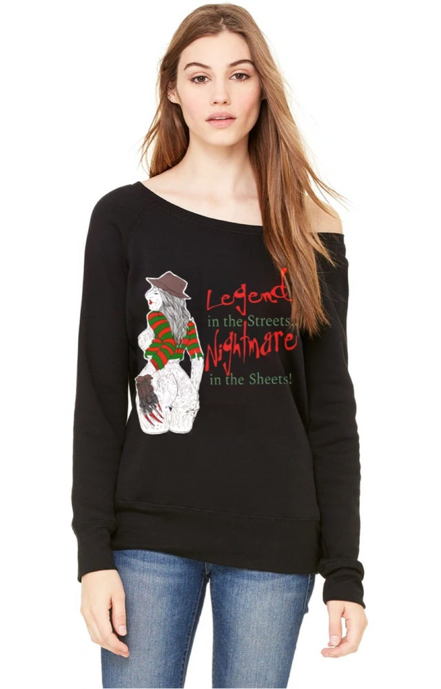 Image of Nightmare In The Sheets Off Shoulder Sweater