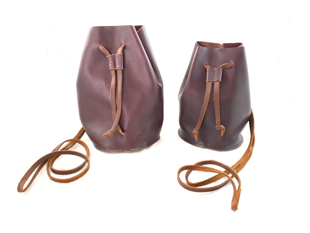 Image of draw string pouch (oxblood)