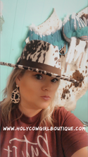 Cow Print Hat