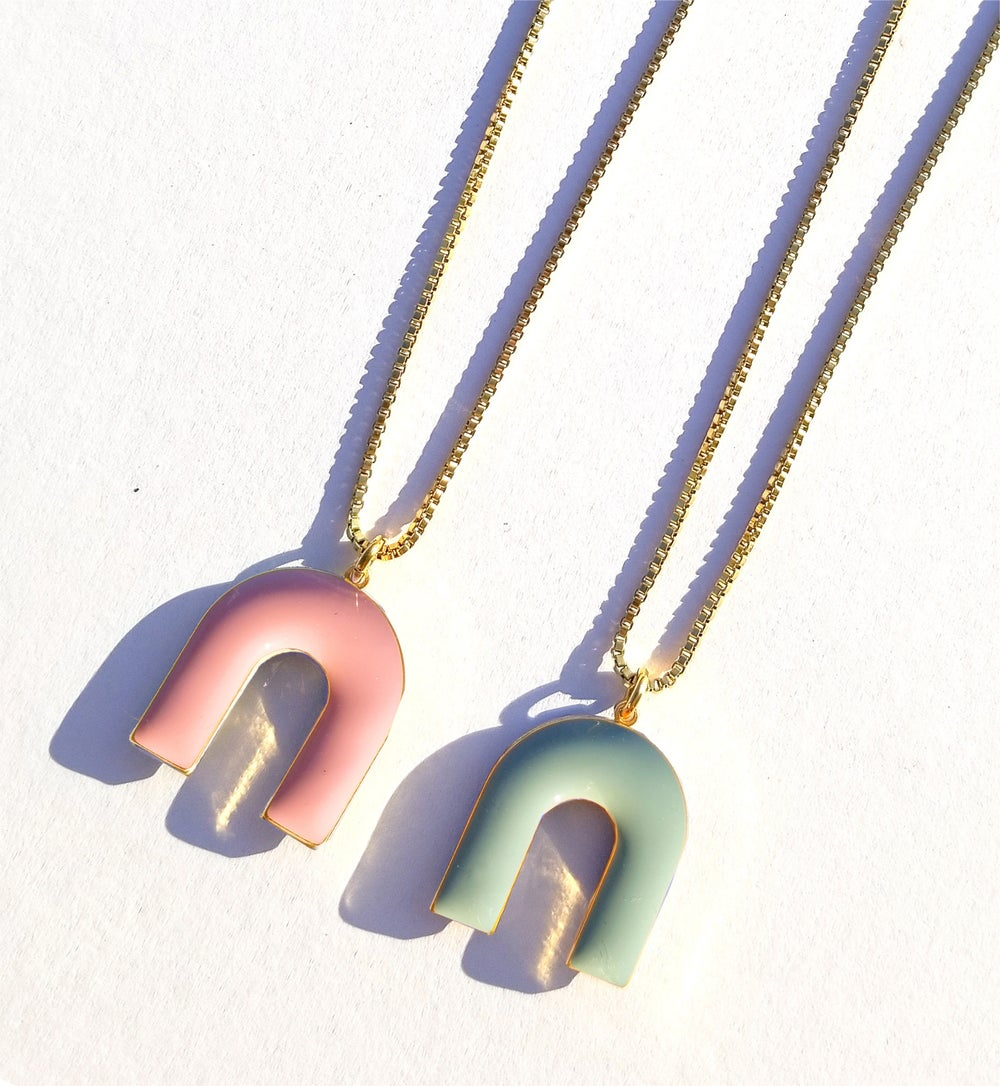 Mountain Necklace • Pastel