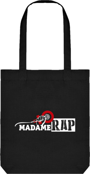 Image of TOTE BAG EN TOILE BIO NOIR