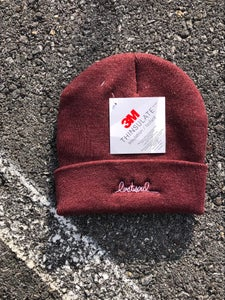 Image of LS cursive embroidered beanie