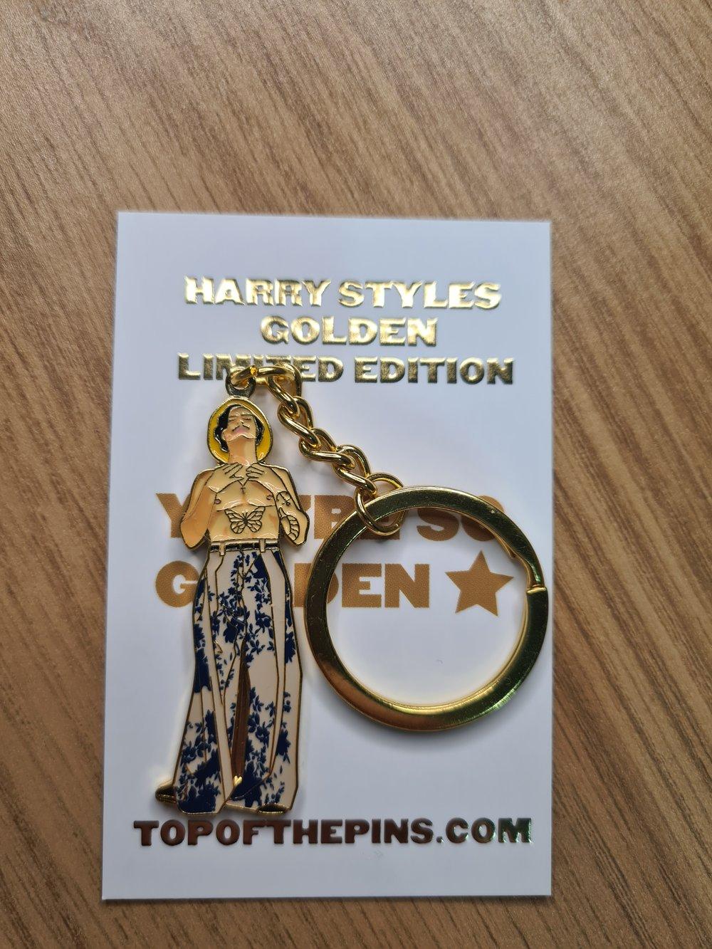 Harry Styles - Golden - Gold Metal Keychain