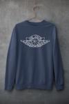 AIr Dior Inspired Crewneck Sweatshirt - Navy Blue