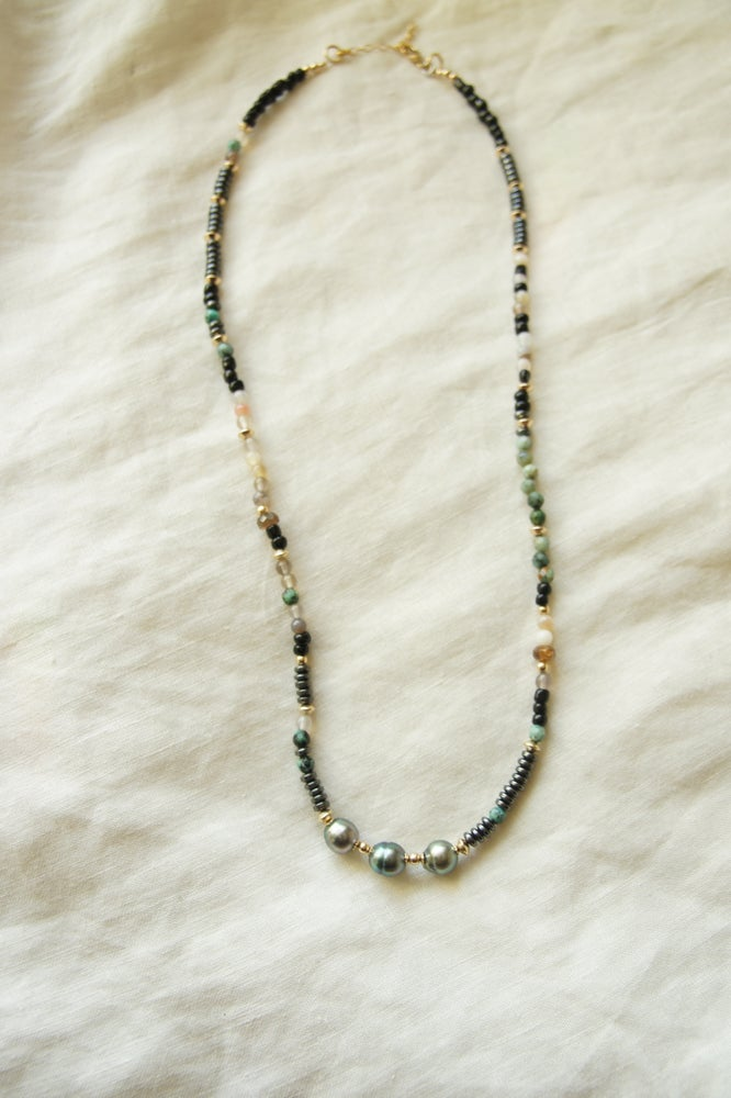 Image of Mar Triple Tahitian Pearl Necklace II