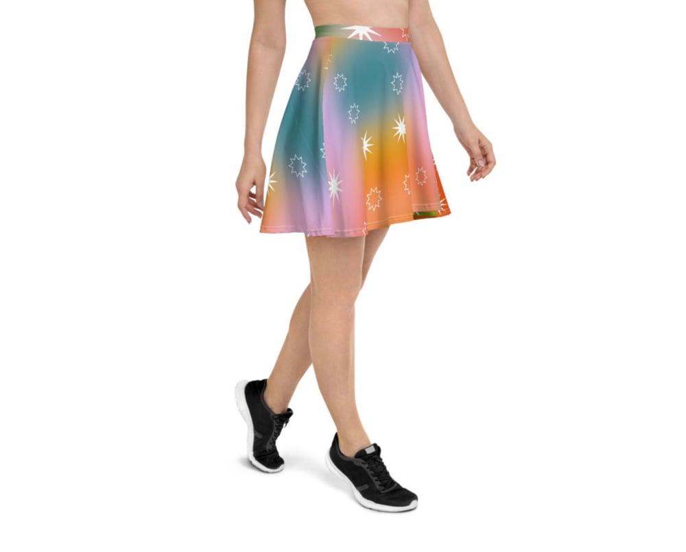 Image of Fairy Dust Print Flowy Skirt