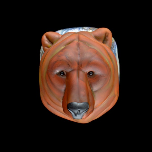Image of Lg. Papa Grizzly Bear - Flamework Glass Sculpture Pendant Bead