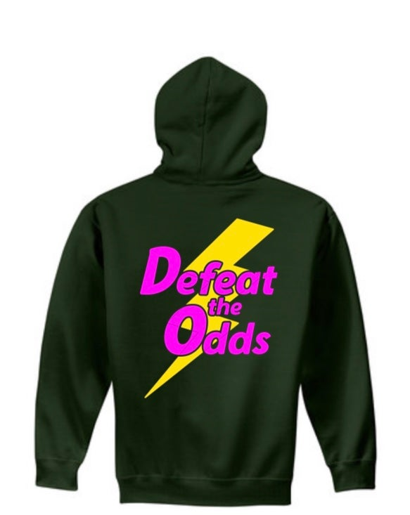 Image of Forest Green Defeat the Odds Hoodie