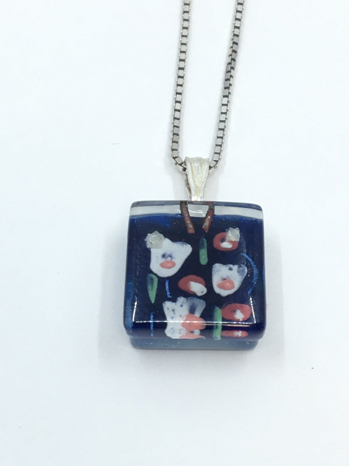 **25% Off** Small Square Necklace by Momo Glassworks