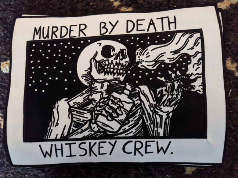 Image of 12 inch whiskey crew patch + sticker