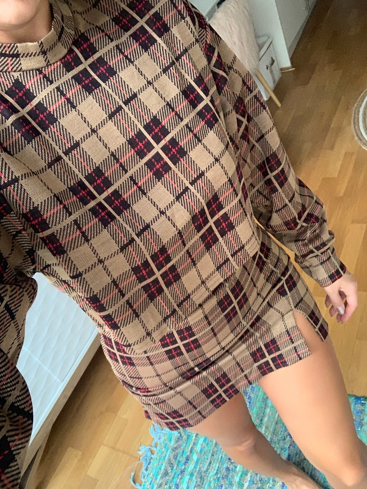 Image of Burberry Check Sweatshirt & Skirt Co-Ord