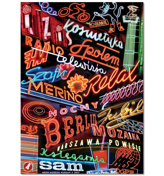 Image of 'Warsaw Neon' Poster