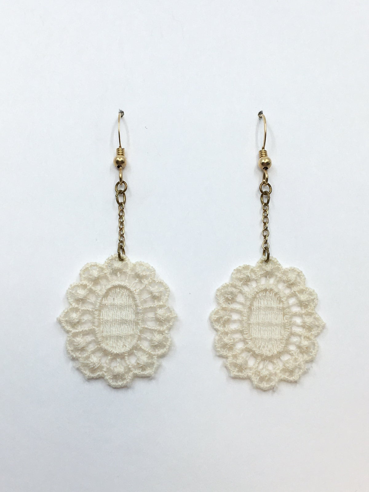 **35% Off** Cotton Lace Earrings by Paz Sintes