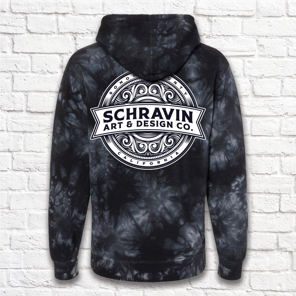 Image of Black Tie Dye Schravin Sweater