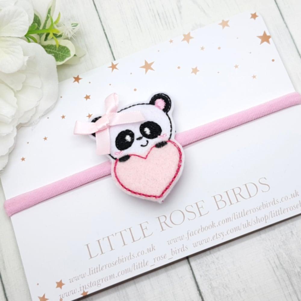Image of Panda Heart Bow