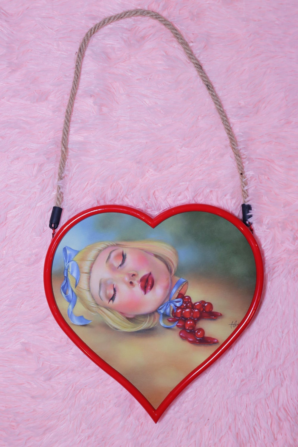 Image of Cherry Pie Girl Limited Edition Framed Giclee Print - MEDIUM