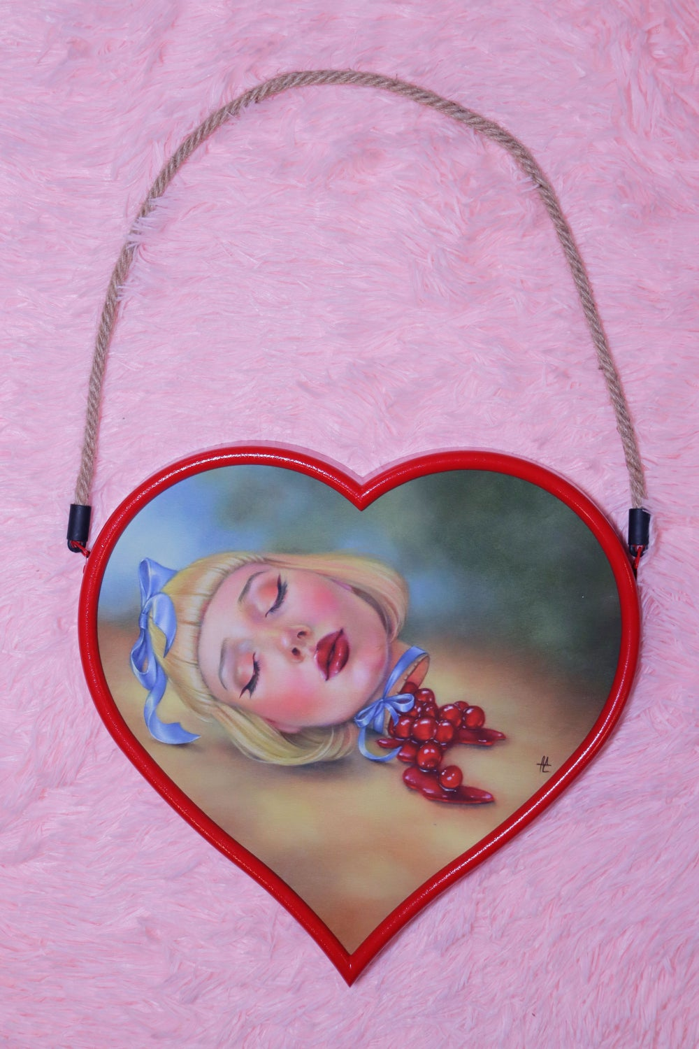 Image of Cherry Pie Girl Limited Edition Framed Giclee Print - LARGE