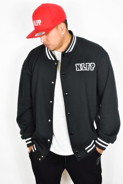 Image of NLFP VARSITY JACKET BLACK