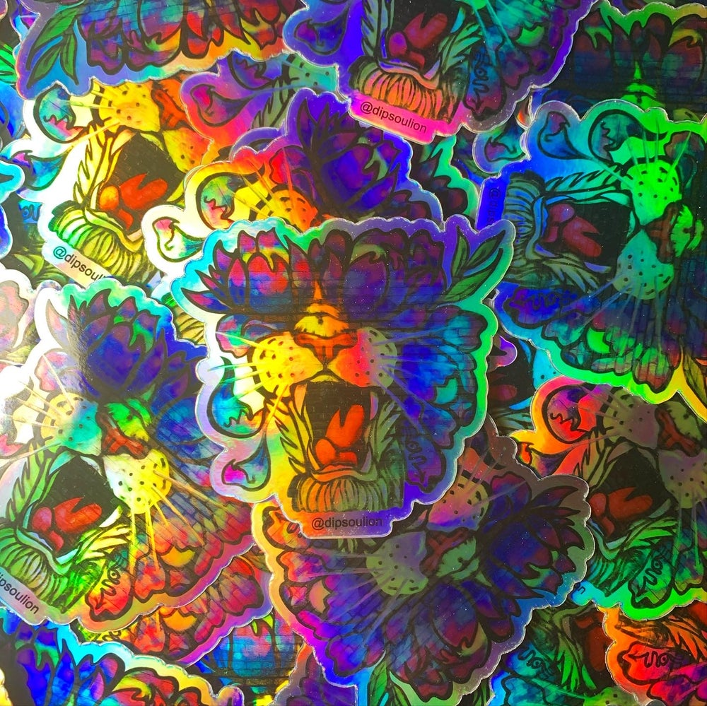 Image of FlowRoars holographic sticker