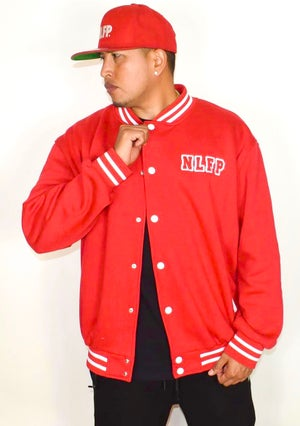 Image of NLFP VARSITY JACKET RED