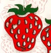 Leather Handpainted Strawberry Earrings. Exclusive