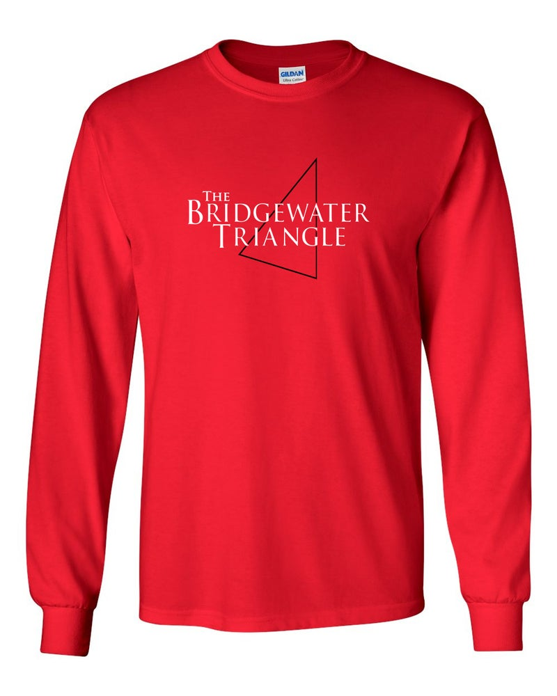 Image of BRIDGEWATER TRIANGLE RED T-SHIRT - LONG SLEEVE