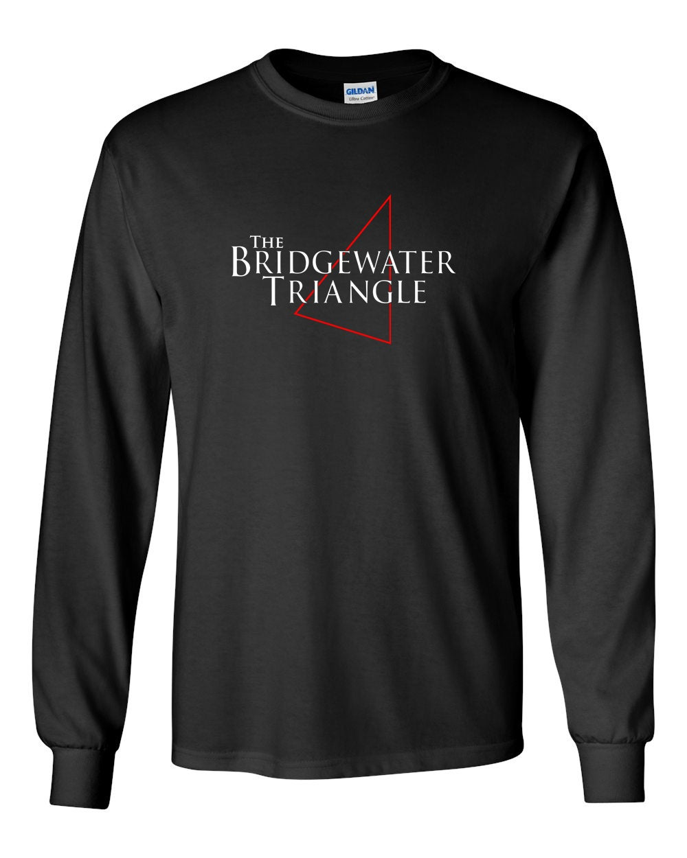 Image of BRIDGEWATER TRIANGLE BLACK T-SHIRT - LONG SLEEVE