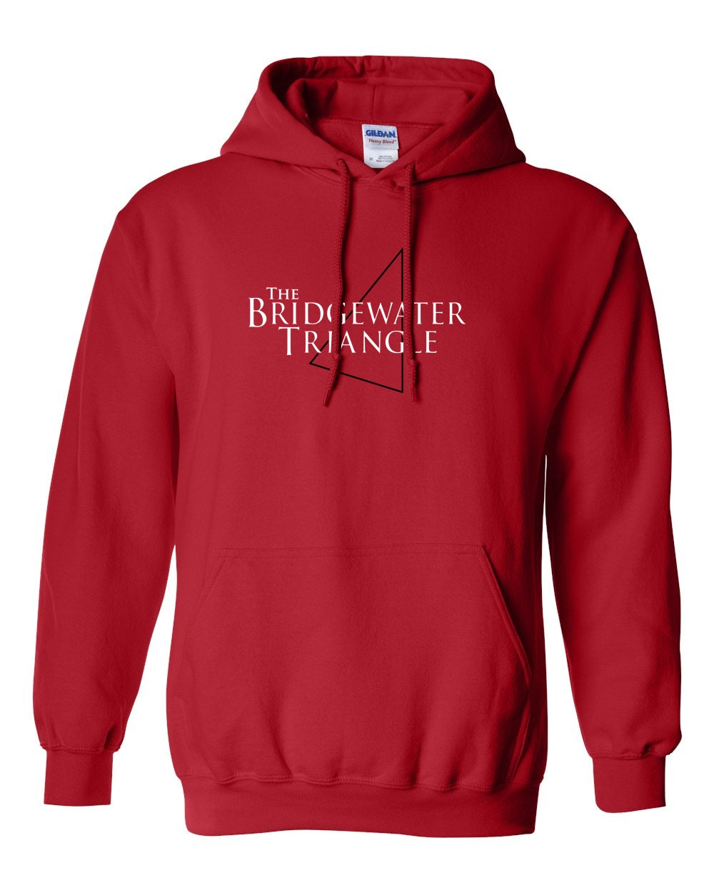 Image of Bridgewater Triangle Red Hoodie  - TEMP OUT OF STOCK