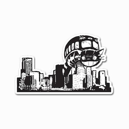 Image of Catbus City Take-Over Sticker