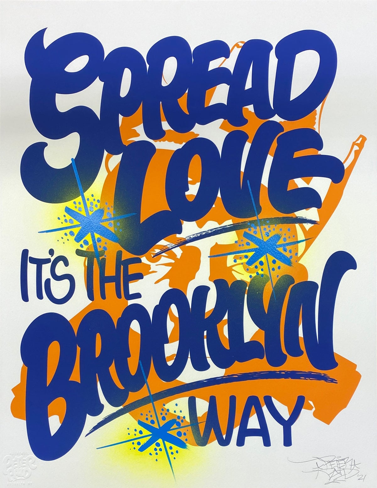 Image of Spread Love it's the Brooklyn Way - Archival Print