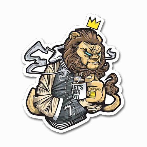 Image of Lion Sticker