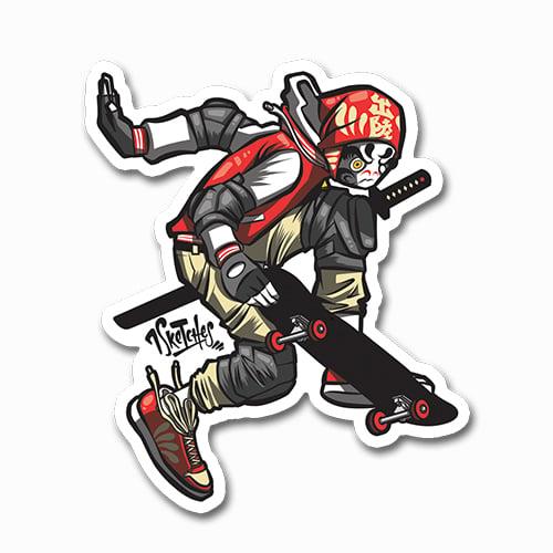 Image of Daruma Skater Sticker