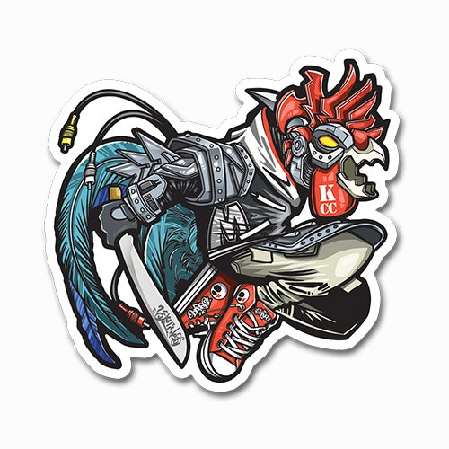 Image of Mecha-Chicken Sticker
