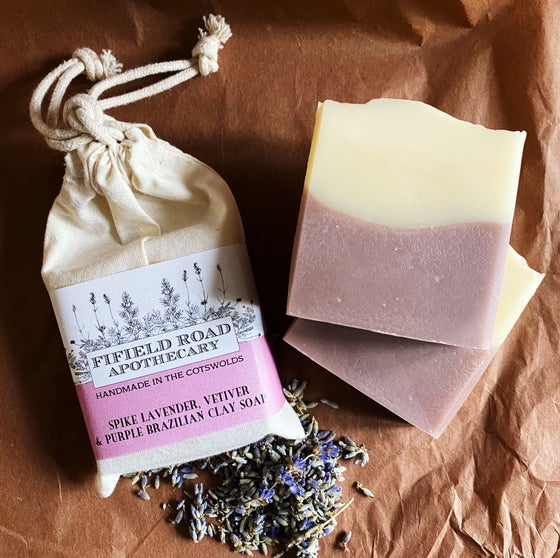 Image of Spike Lavender & Vetiver Soap with Purple Brazilian Clay