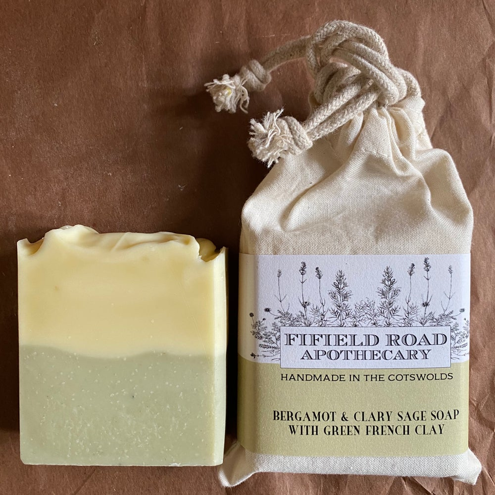Image of Bergamot & Clary Sage Soap with French Green Clay