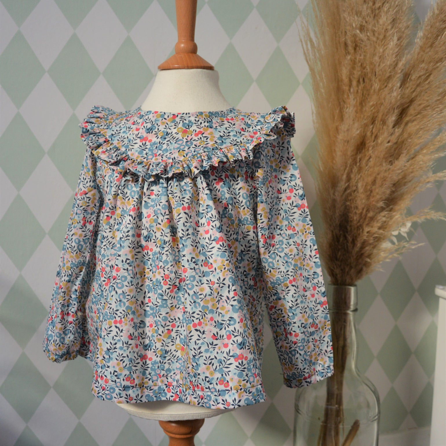 Image of Blouse liberty wiltshire porcelaine