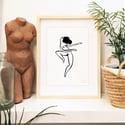 """""""Mujer feliz bailando"""" print"""