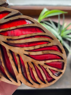 Image of Feather Light Catcher - Red