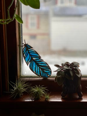 Image of Feather Light Catcher - Blue