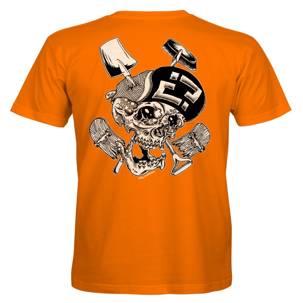 "Image of Confusion - ""Skelly Cracker"" t-shirt  [orange]"