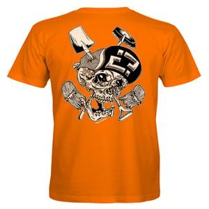 "Image of Confusion - ""Skelly Cracker"" t-shirt  [orange]"
