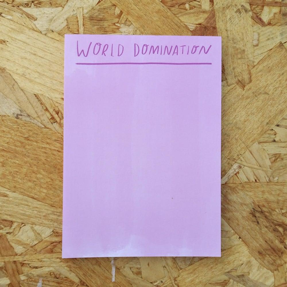 Image of World Domination Desk Jotter