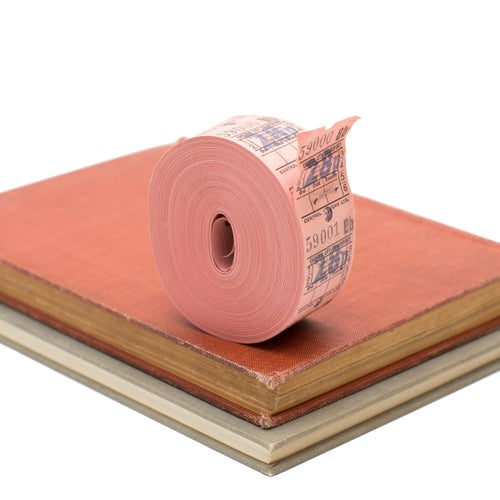 Image of Pink British Bus Ticket Roll - 28p