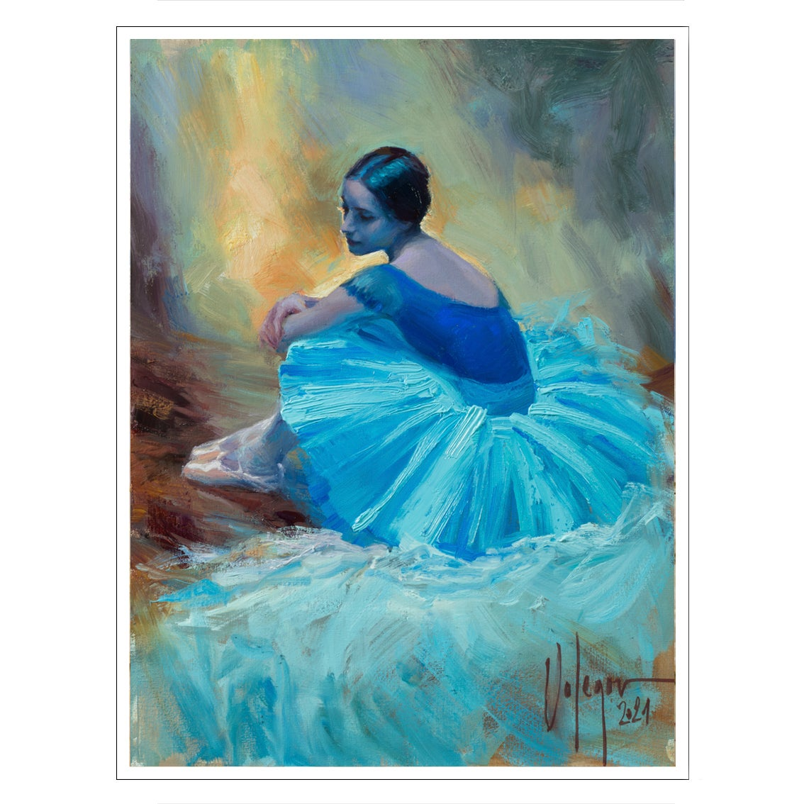 "Image of PRINT ON CANVAS ""THE BALLERINA"""